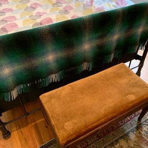 VTG Connemara Foxford Plaid Wool Blanket